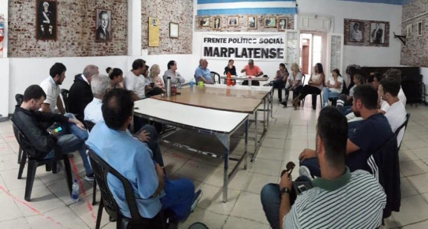 Gral. Pueyrredón: Cumbre peronista del Frente Político Social Marplatense