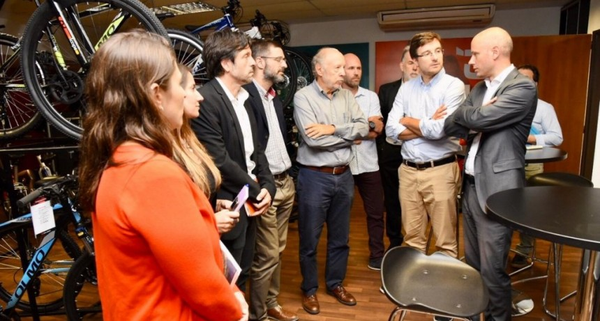 Morón: Lucas Ghi se reunió con el secretario PyME de Nación Guillermo Merediz
