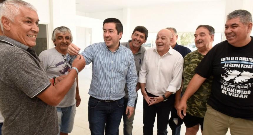 Nardini construye un espacio para la memoria de los Ex Combatientes de Malvinas