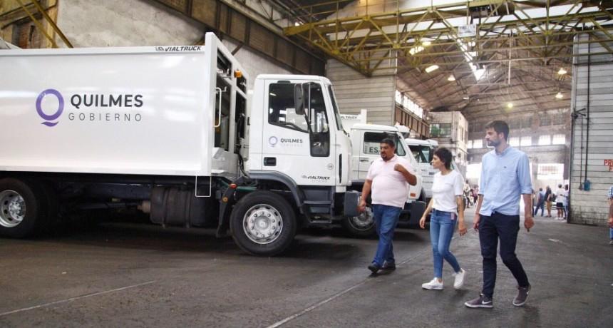 Quilmes: Mayra Mendoza incorpora 10 camiones recolectores en el Programa Quilmes Limpio
