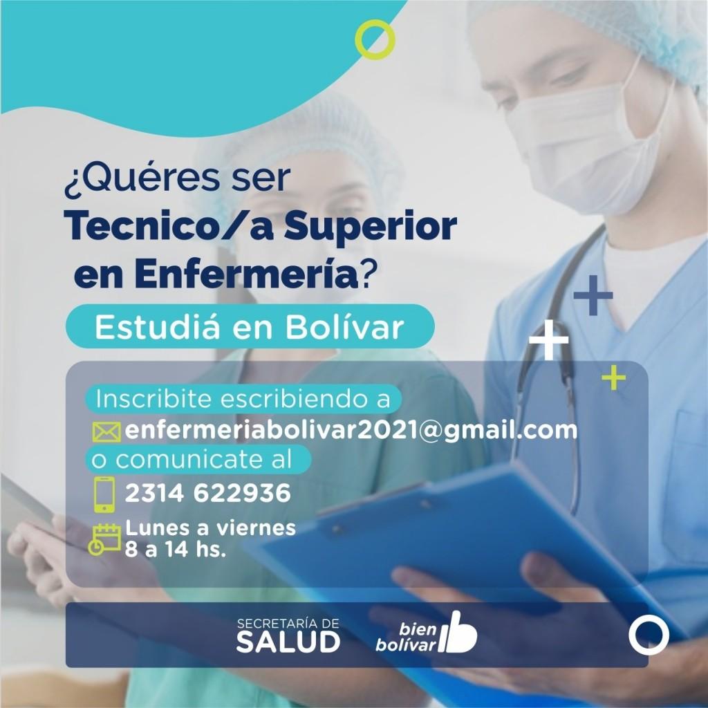 Bolívar: Comienza la inscripción para la tecnicatura superior en enfermería