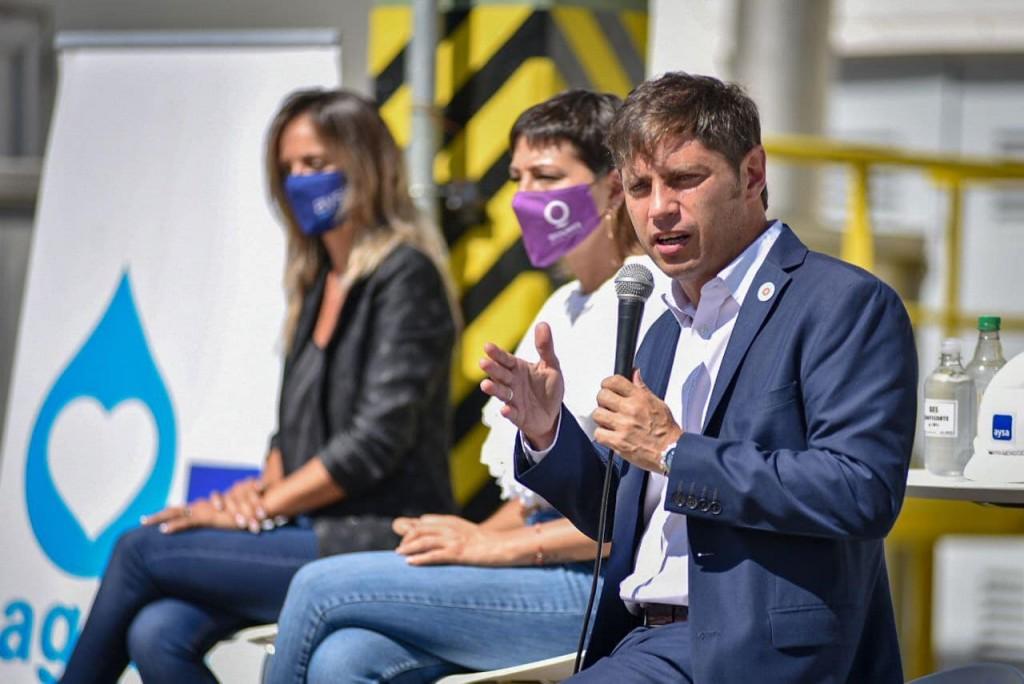 Quilmes: La intendenta junto a Axel Kicillof y Galmarini inauguraron obras de cloacas y agua potable en Villa Itatí