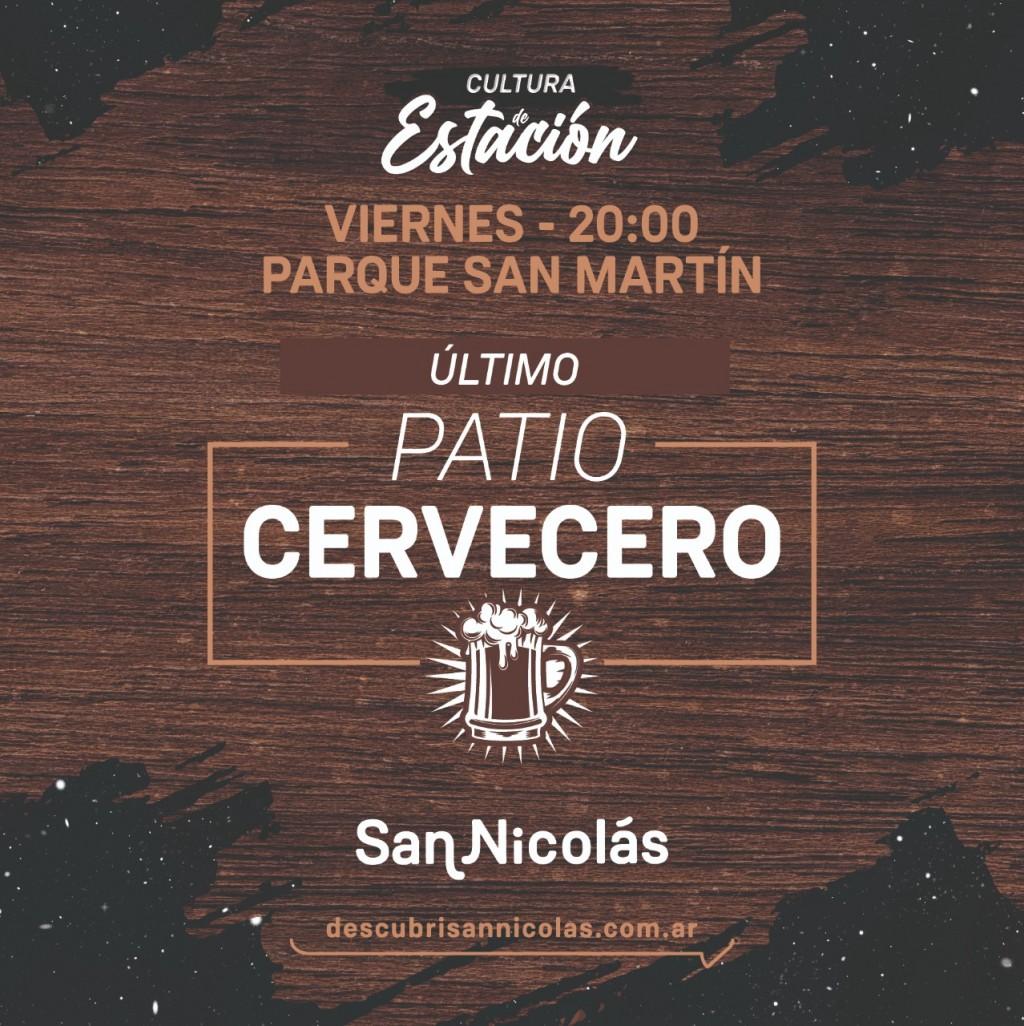"""San Nicolás: Patio cervecero en el ciclo """"Cultura de Estación"""""""