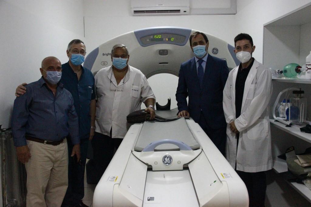 Maipú: Matias Rappallini inauguró el tomógrafo computado