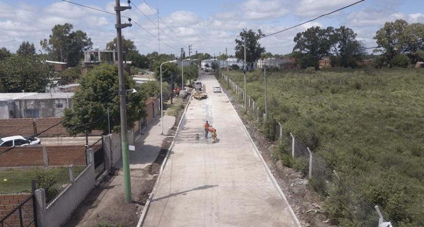 PBA: Se inició la obra de pavimentación de las calles que vinculan las Rutas Provinciales 23 y 24
