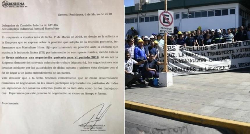 Trabajadores lecheros marchan en reclamo por paritarias