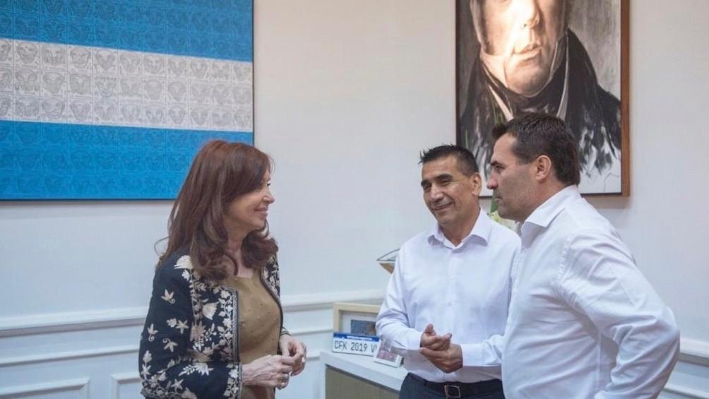 Neuquén: Fuerte apoyo de CFK a la fórmula provincial Rioseco - Martínez