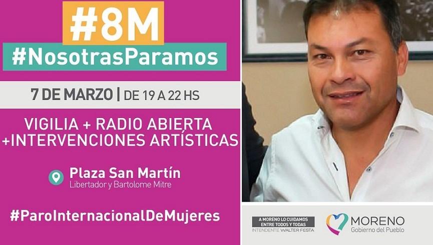 Moreno: Festa declaró de interés general la convocatoria y actividades por el Día de la Mujer