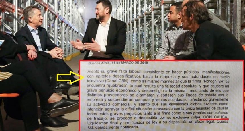 Macri visitó una empresa hace dos meses, hoy cerró y no paga las indemnizaciones
