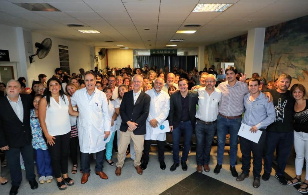 Avellaneda: El ministro Gollán puso en funciones a los nuevos directores del Hospital de Wilde