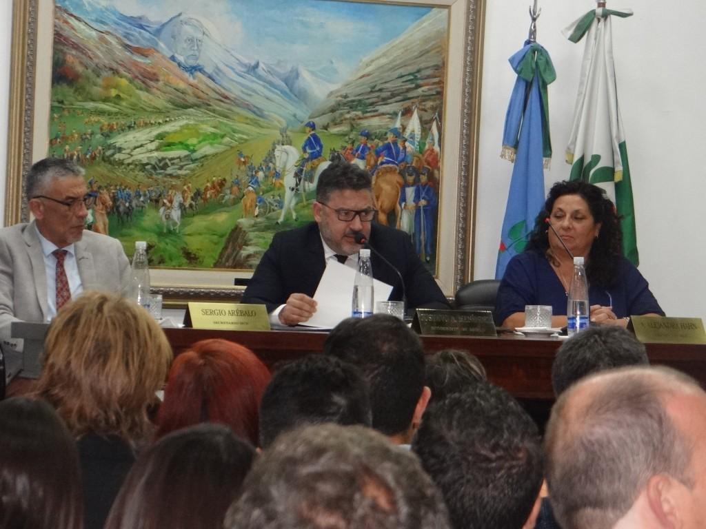 Merlo: Menéndez inauguró las sesiones en el Concejo Deliberante