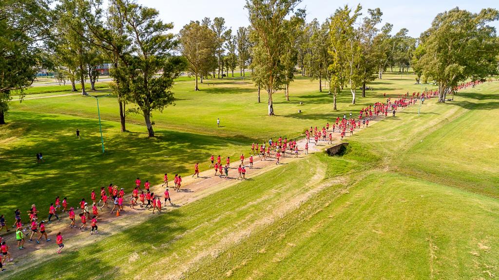En Junín, más de 400 mujeres le dieron color a la Carrera de la Mujer