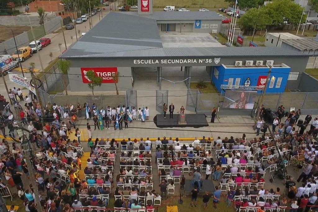 Tigre: El intendente Zamora y la ministra Agustina Vila inauguraron escuela en Benavídez