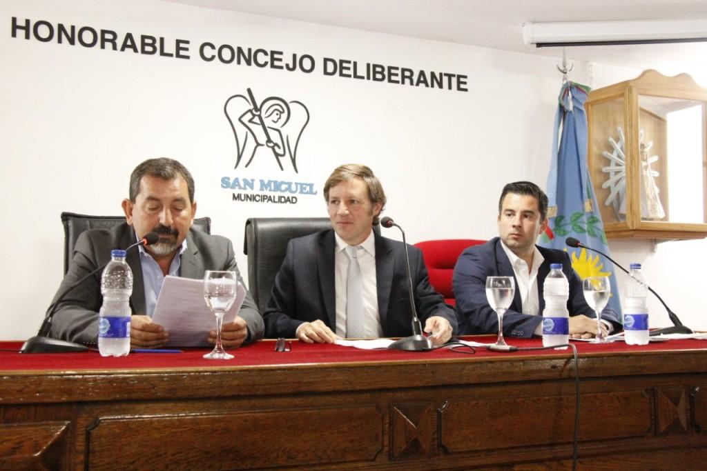 Jaime Méndez inauguró las sesiones del Concejo Deliberante de San Miguel