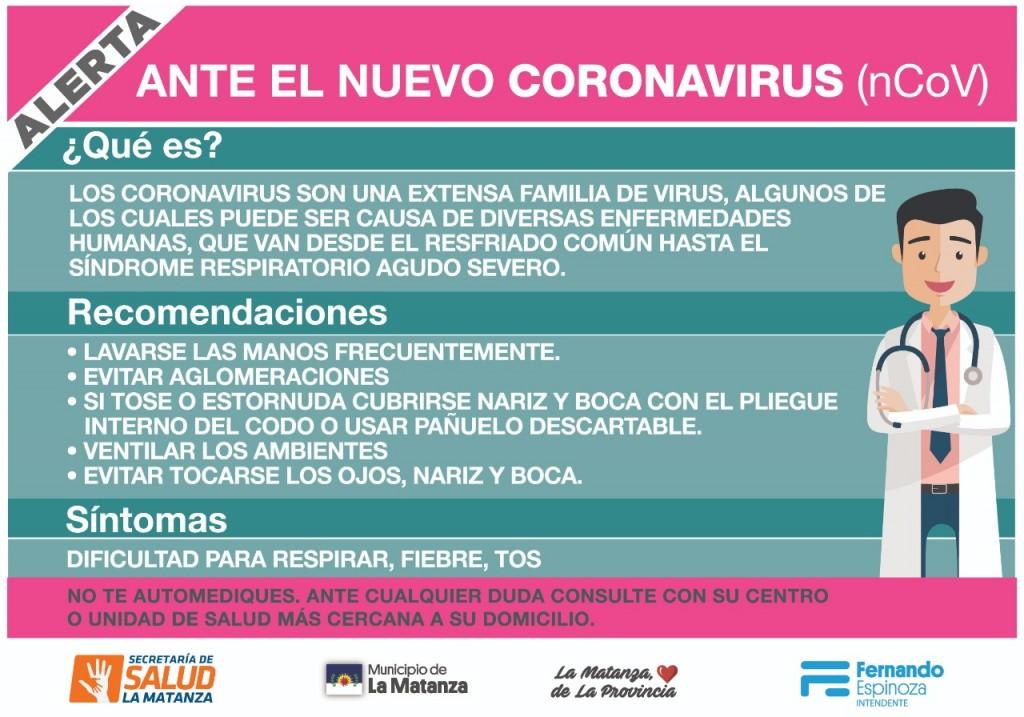 La Matanza ya aplica el protocolo de atención por Coronavirus en todos sus hospitales