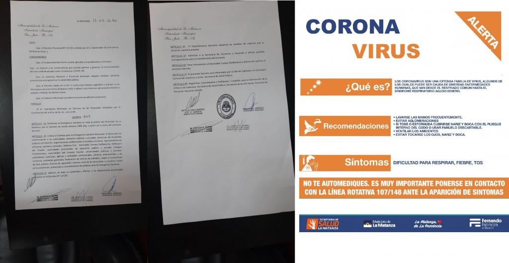 Espinoza creó un Consejo para la Emergencia Sanitaria, interinstitucional e interdisciplinario