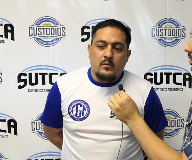 """Cristian López (SUTCA): """"Si continua la cuarentena deben evaluar el pago completo del salario de los custodios. Sino no sé cómo hará esa persona para sobrevivir"""""""