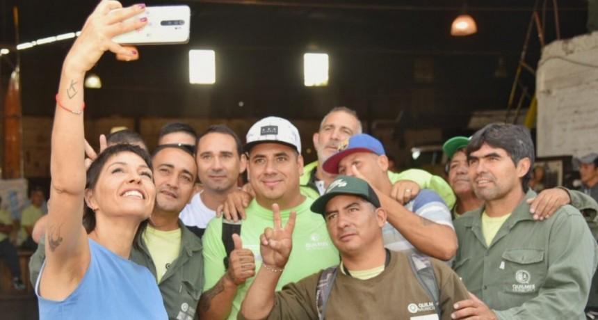 Quilmes: Mendoza firmó una bonificación salarial para los trabajadores de alumbrado público