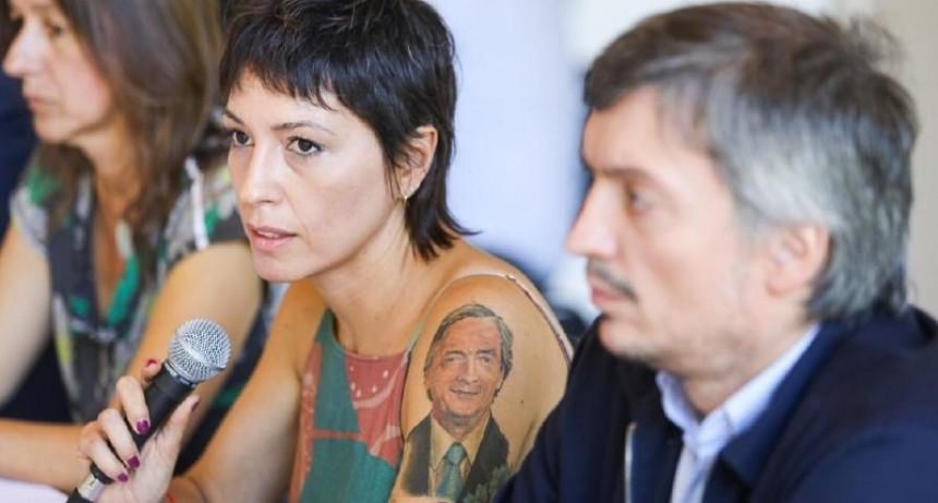 Mayra Mendoza junto Alberto Fernández y Kicillof en la reunión con intendentes