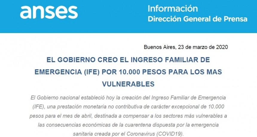 PALIATIVO: El presidente Fernández firmó un DNU para el Ingreso Familiar de Emergencia