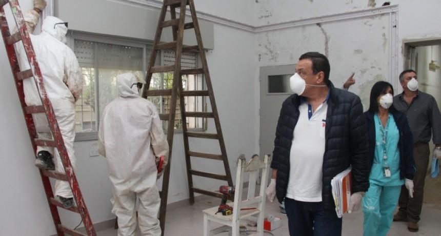 Zárate: El intendente recorrió el futuro centro de aislamiento y los accesos al distrito