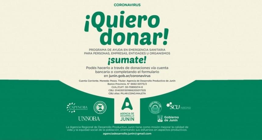 Junín: Por la Emergencia Sanitaria, la Agencia de Desarrollo abrió una cuenta bancaria para recibir donaciones