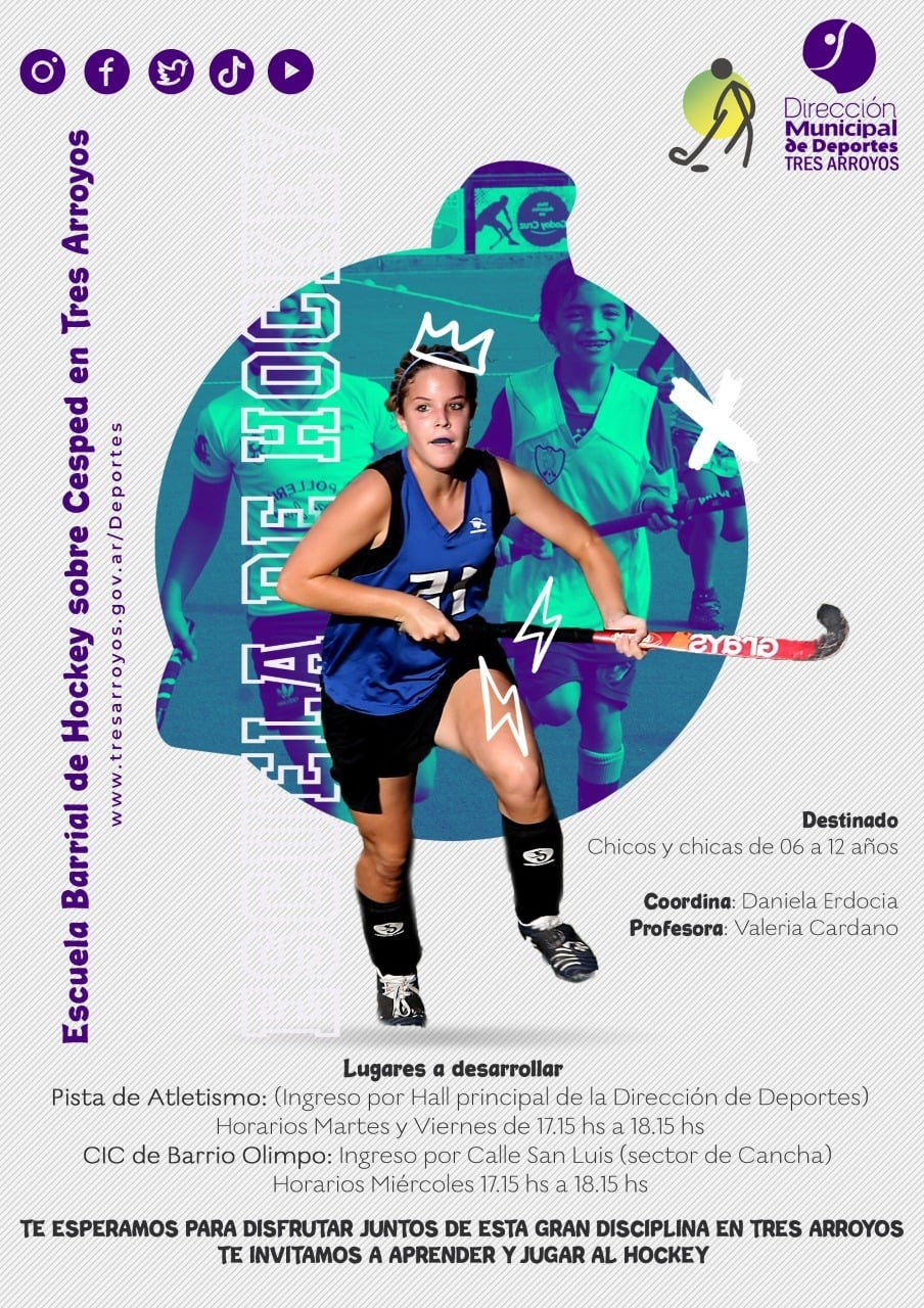 Tres Arroyos: Se creó la escuela de hockey sobre césped