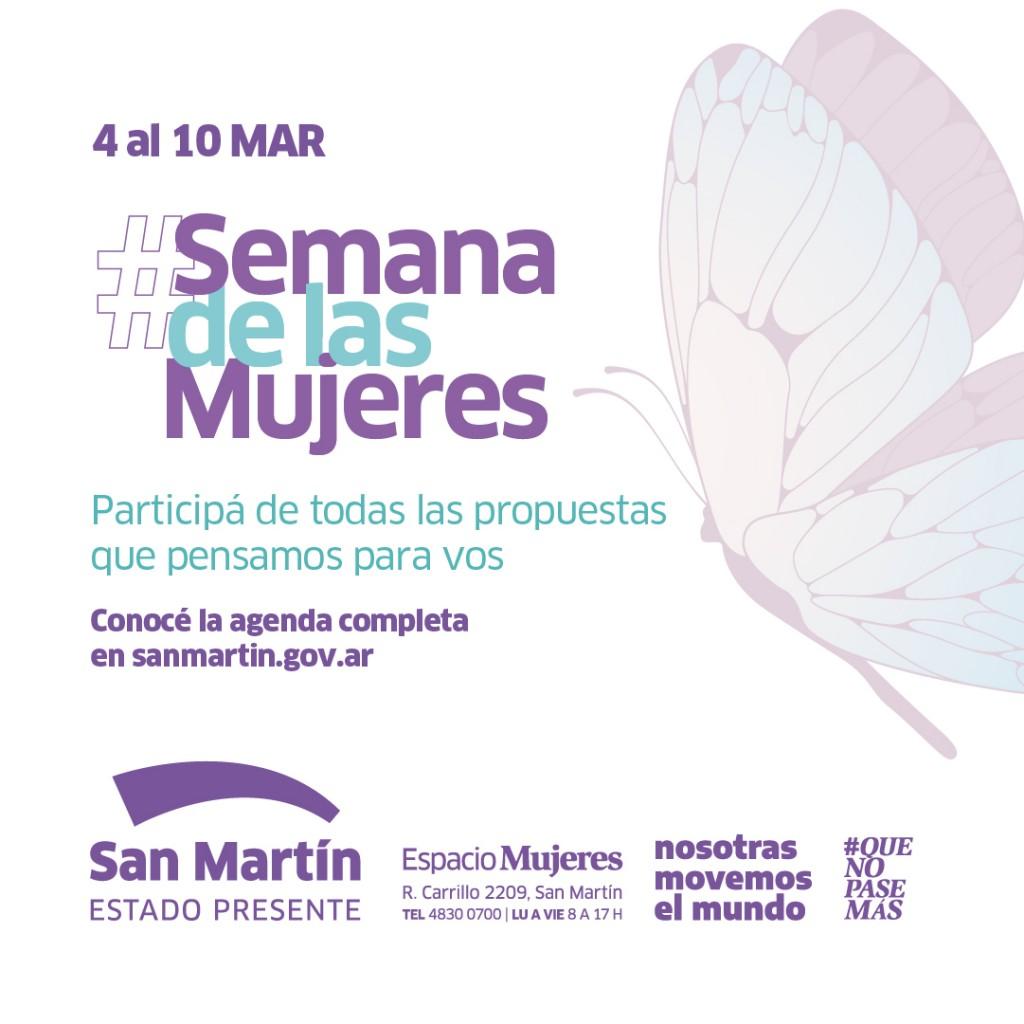 San Martín: El Municipio conmemora la Semana de las Mujeres