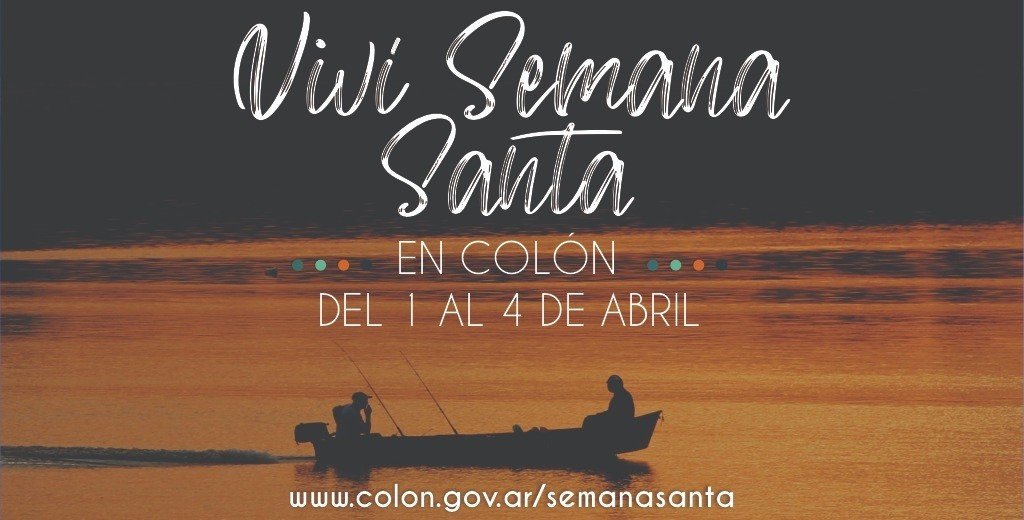 Colón (ER) tendrá una nutrida programación el fin de semana de Semana Santa