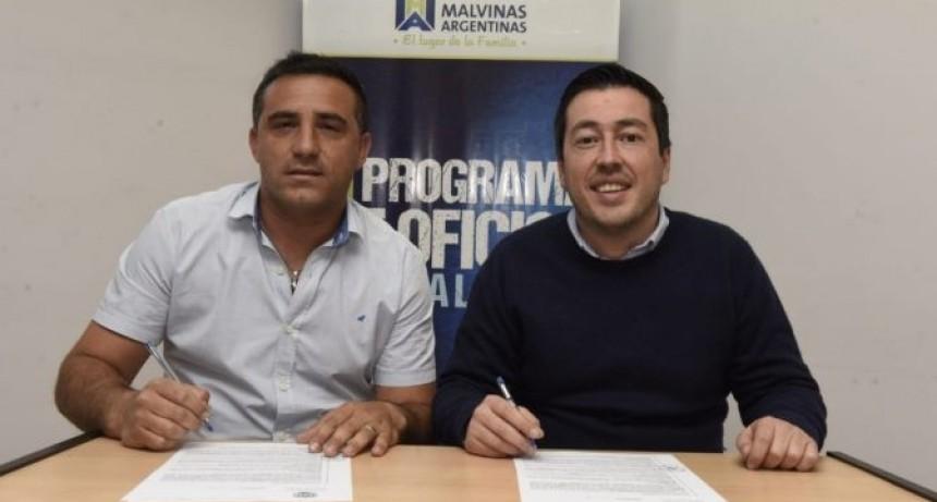 Malvinas Argentinas: Nardini firmó un convenio con la UOM de cooperación laboral