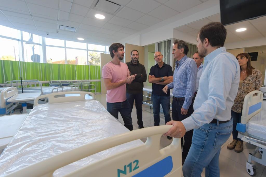 San Fernando: Andreotti y Katopodis acordaron reforzar la terapia intensiva e intermedia del Hospital
