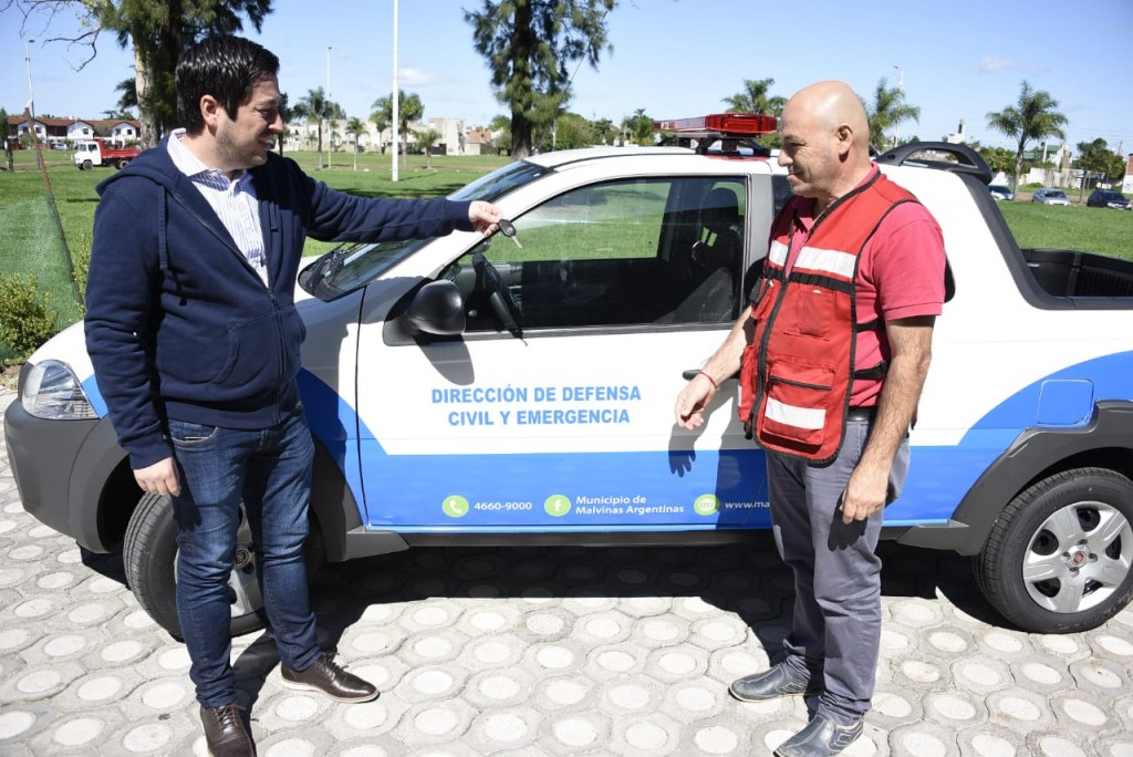 Malvinas Argentinas adquirió nuevo móvil para Defensa Civil y Emergencias