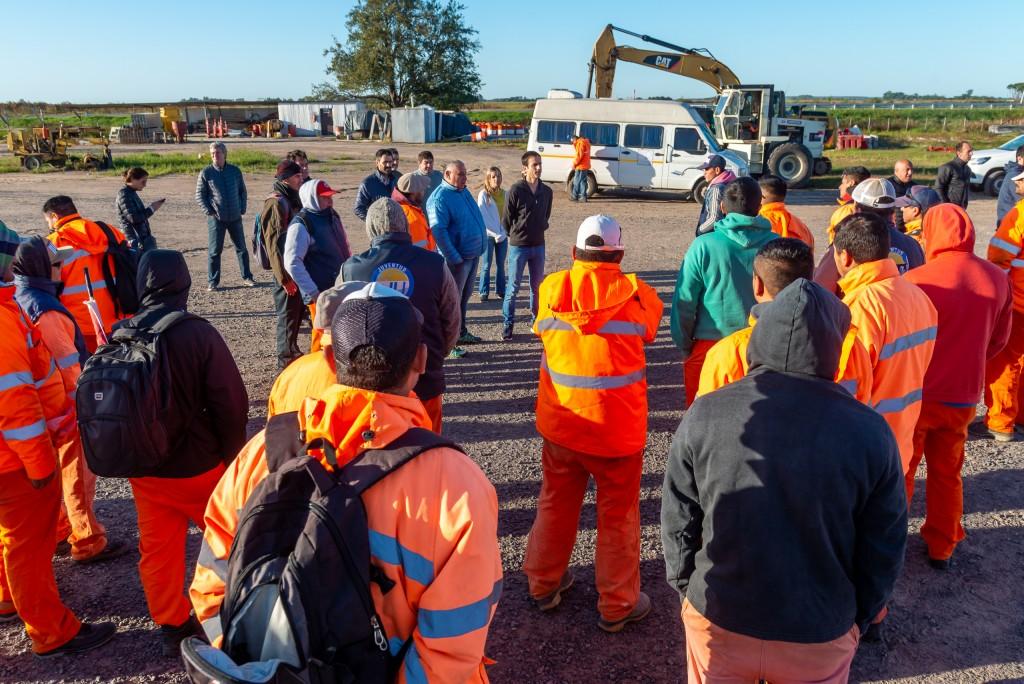Petrecca celebró el reinicio de las obras en la Autopista R7