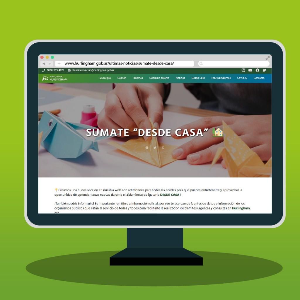 Hurlingham: Presentan plataforma digital con propuestas e información para acceder desde el hogar