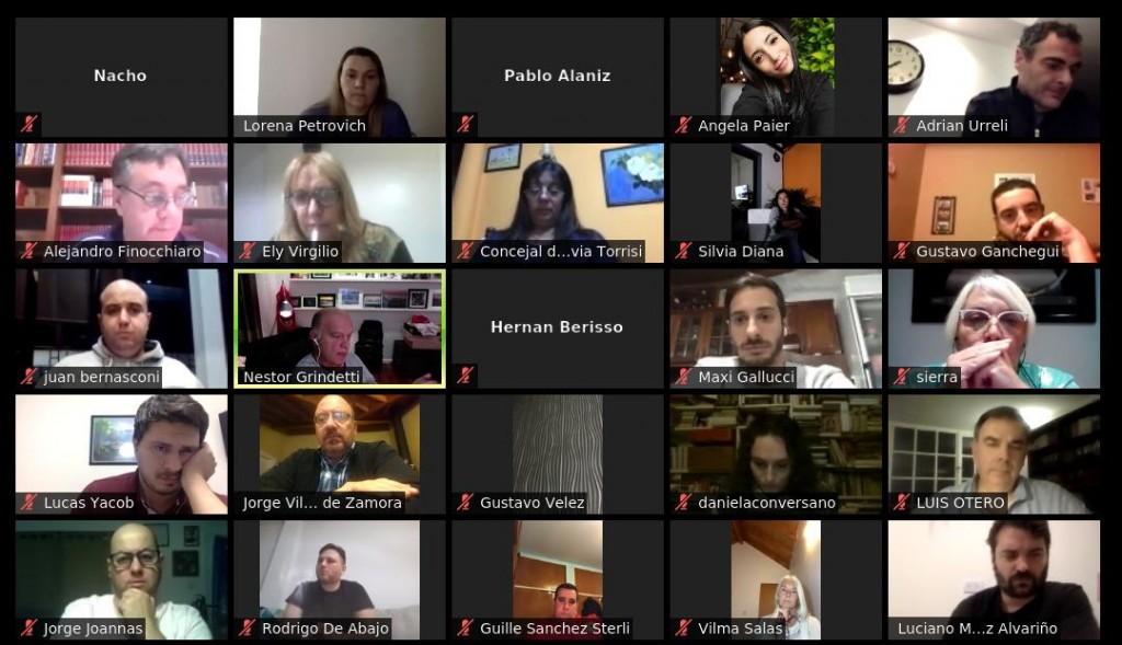 Grindetti encabezó encuentro virtual de 3ra. Sección de Juntos por el Cambio