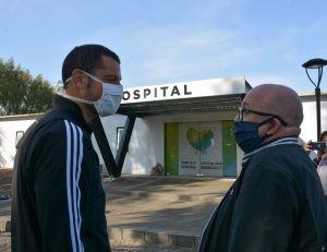 G. Rodríguez: Reunión con directivos del Hospital Posadas para coordinar el trabajo
