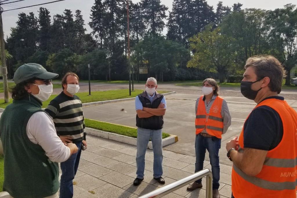 Luján: El Intendente supervisó servicios y controles en Jáuregui y Pueblo Nuevo