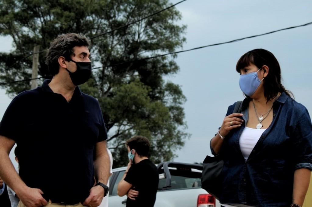 Luján: Boto recorrió barrios junto a la Secretaria de Integración Socio Urbana de la Nación