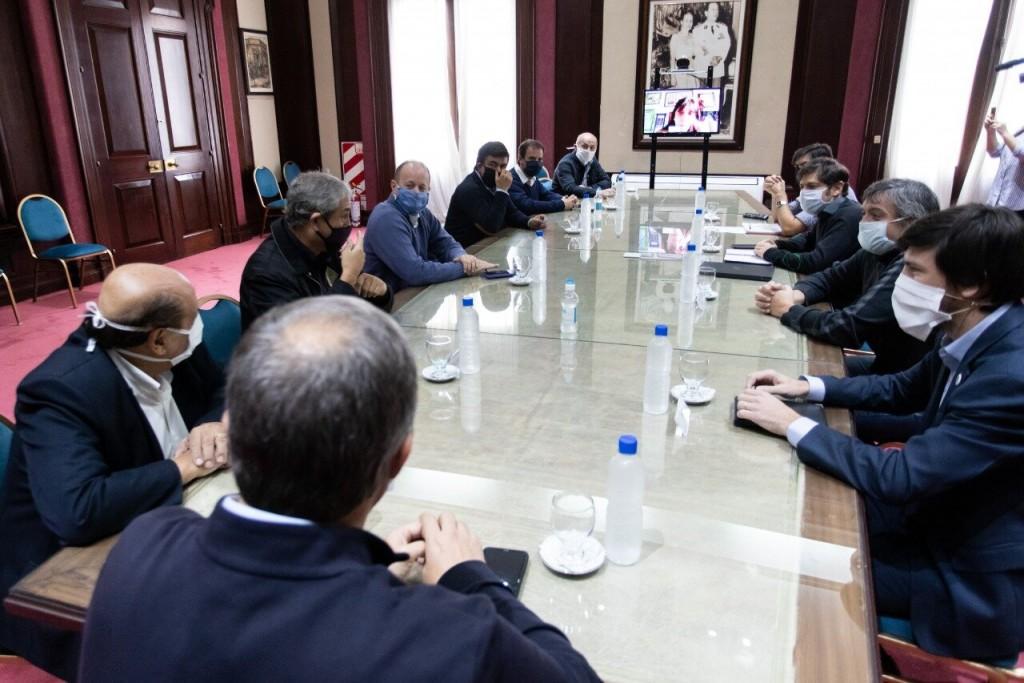 Reunión de Kicillof con intendentes