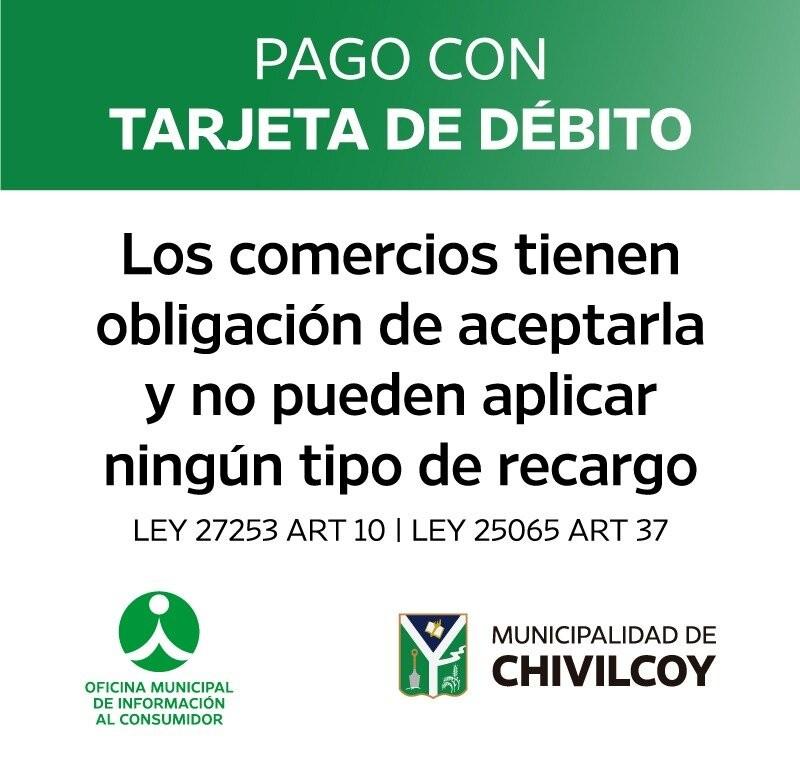 Chivilcoy: OMIC alerta por recargos indebidos en cobros con tarjeta de débito y crédito