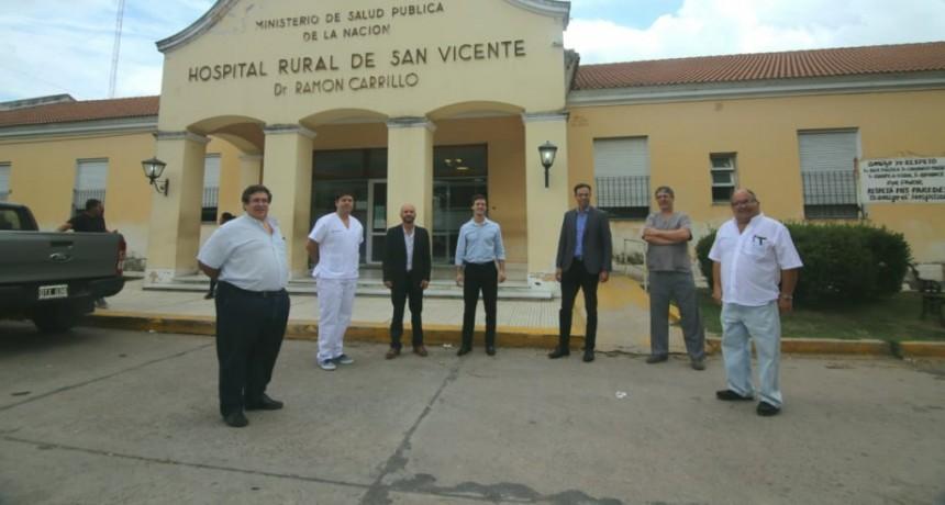 San Vicente: Mantegazza se reunió con directivos del Hospital Cuenca Alta