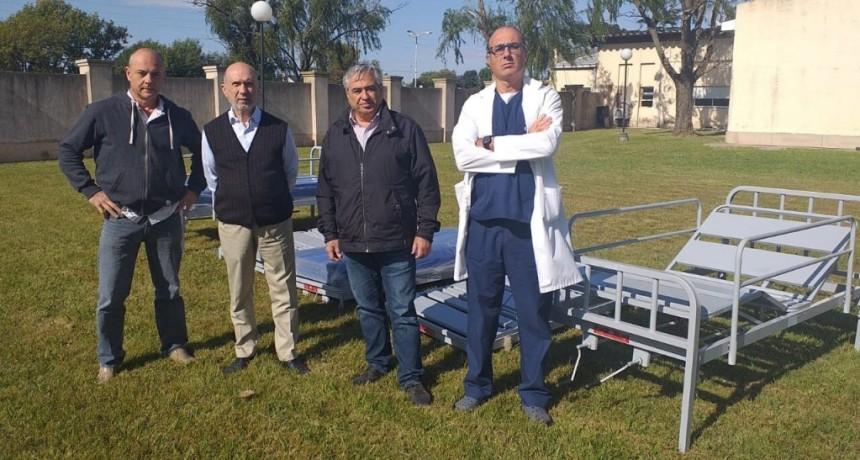 Gral. Villegas: Oleaginosa Moreno Hnos (Glencore), entregó 10 camas ortopédicas al Hospital