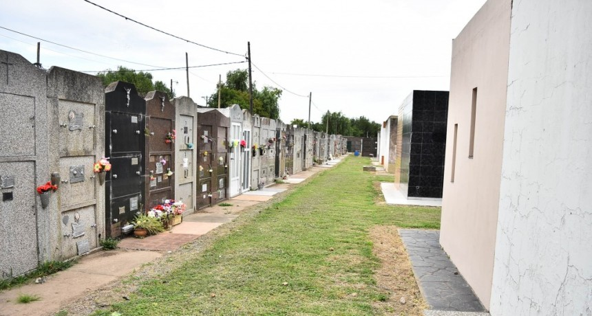 Baradero: Tareas de mantenimiento y refacción en el Cementerio Municipal