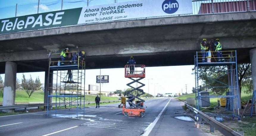 Escobar: Comienza la etapa final de los trabajos de reparación del Puente Garín