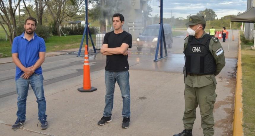 Mercedes: Ustarroz y el Ministro del Interior recorrieron los dispositivos de control de los accesos al distrito