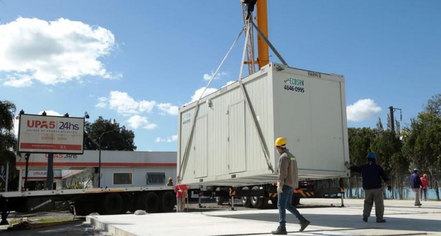 Alte. Brown: Avanza la construcción del Hospital Modular de Emergencia