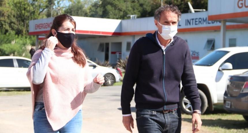 Moreno: Mariel Fernández visitó junto a Katopodis la obra del nuevo Hospital