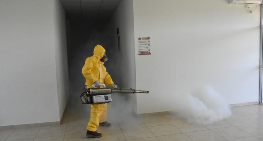 Chivilcoy: Se llevó a cabo la sanitización del Hospital Primario de Moquehuá