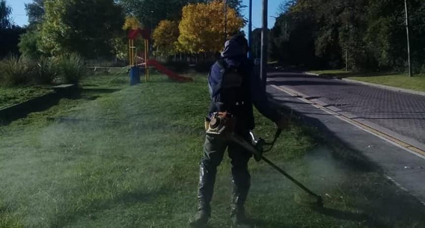 Escobar: Continúan los trabajos de mejoras y mantenimiento del espacio público