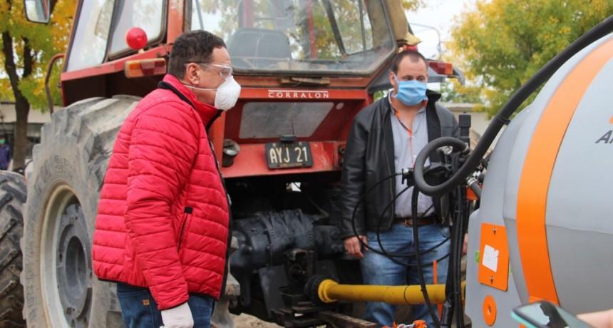 Zárate: Municipio intensifica la desinfección en la vía Pública pensando en la salud de la Comunidad